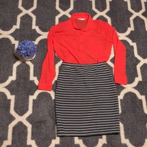 🌸BUNDLE! Forever21 blouse & Ace delivery skirt